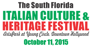 South Florida Italian Festival October 11 2015 Hollywood Florida Arts Park